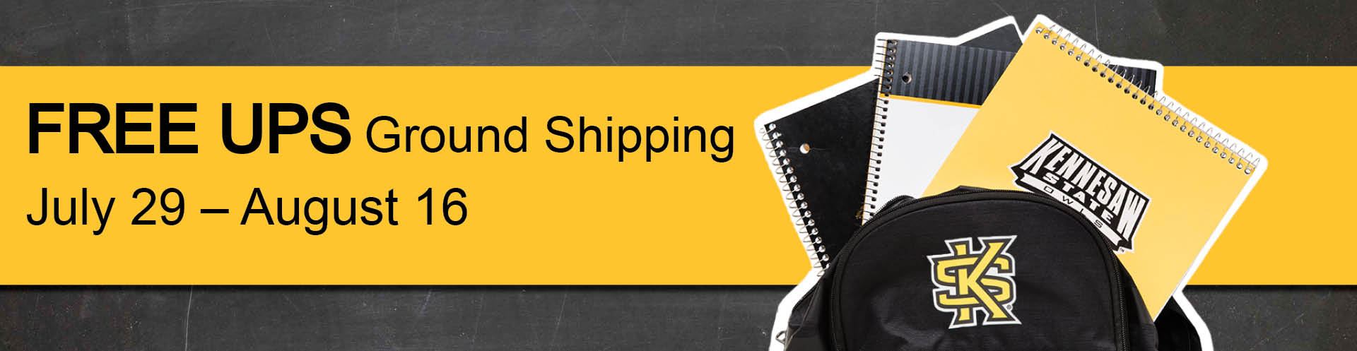 Free UPS Ground Shipping during August!