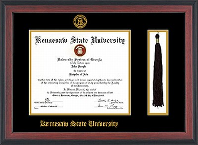 DIPLOMA FRAME CHERRY REVERSE WITH TASSEL