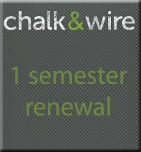 Cover Image For CHALK & WIRE 1 SEMESTER RENEWAL