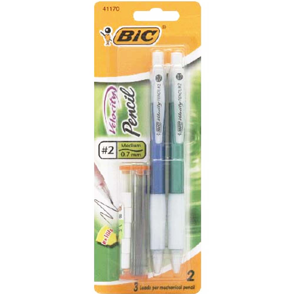 Image For BiC Velocity Mechanical Pencil, Medium, 2-Pack