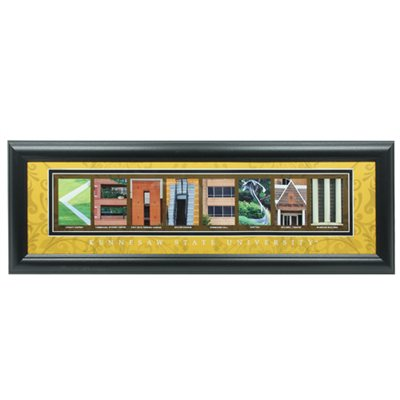 Image For Kennesaw State Owls Framed Letter Art