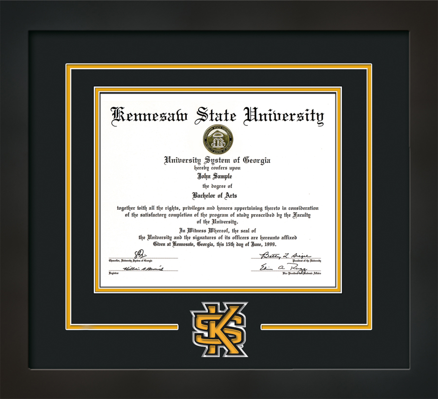Image For Professional Framing Laser Diploma Frame