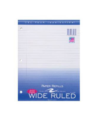 Cover Image For Wide Ruled Filler Paper