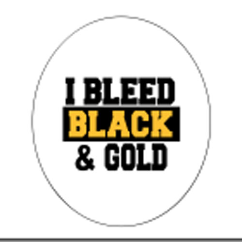 "Image For ""I Bleed Black and Gold"" Button"
