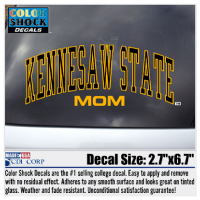 Cover Image For Arched Kennesaw State Mom Decal