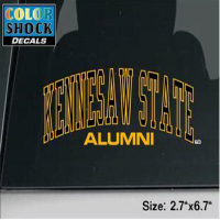 Cover Image For Arched Kennesaw State Alumni Decal