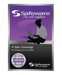 Image For Safeware 4 Year Warranty For Items Under $1000.00