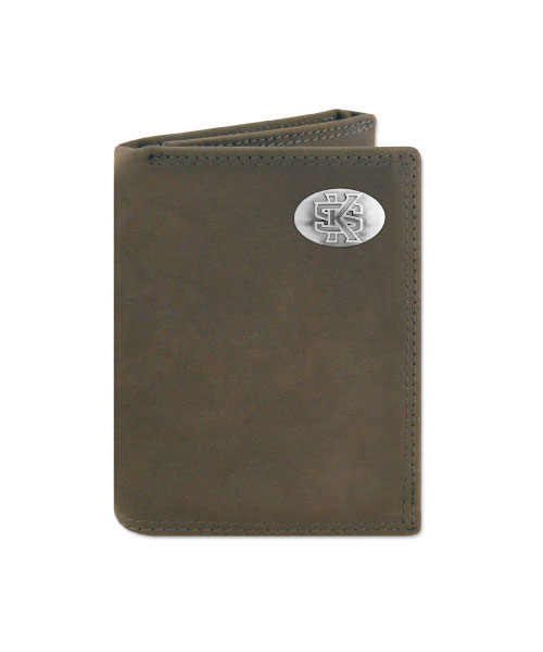 Image For Interlocking KS Trifold Leather Wallet