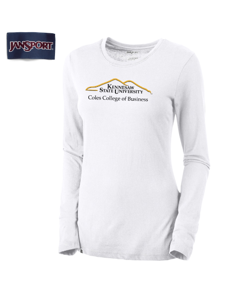Image For Ladies Long Sleeve Coles College of Business Tee