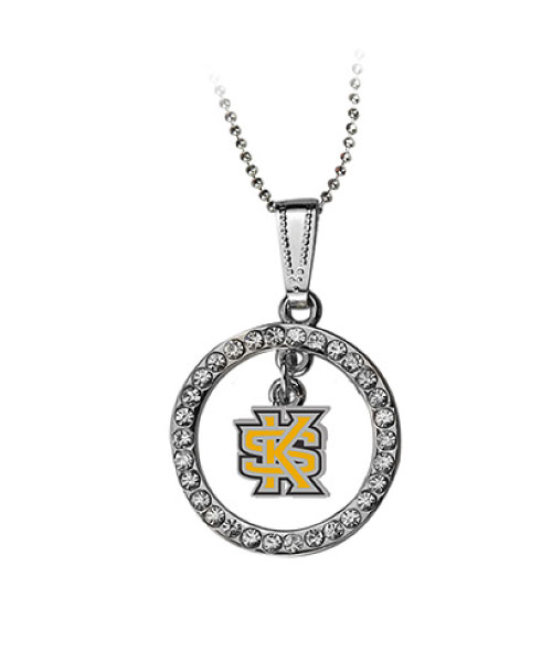 Image For Interlocking KS Circle Crystal Necklace