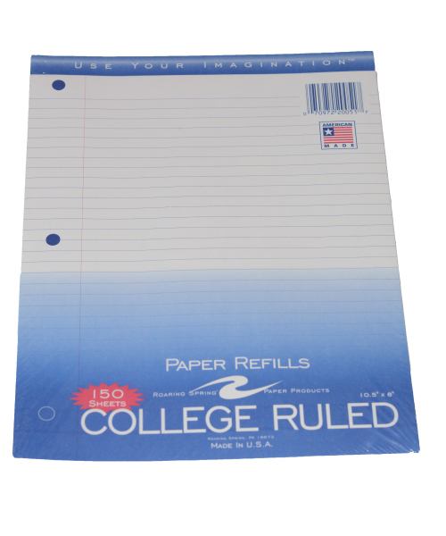 Cover Image For FILLER PAPER CLG RULED