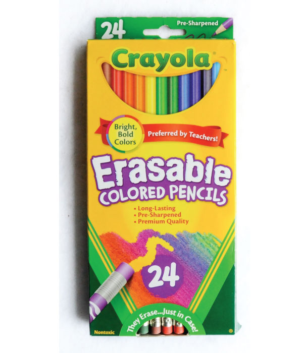 Image For ERASABLE COLORED PENCILS