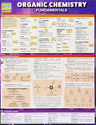 Image For Organic Chemistry Fundamentals Quick Study