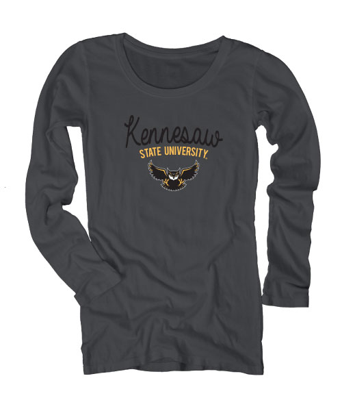 0fa901f5e Arched Kennesaw State University Long Sleeve Tee