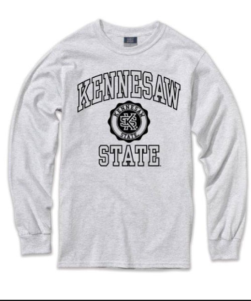 Image For MV Marble Kennesaw State Long Sleeve Tee