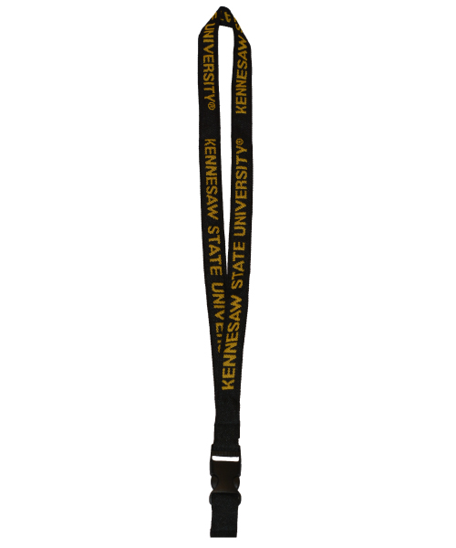 Cover Image For Kennesaw State Platinum Black Lanyard
