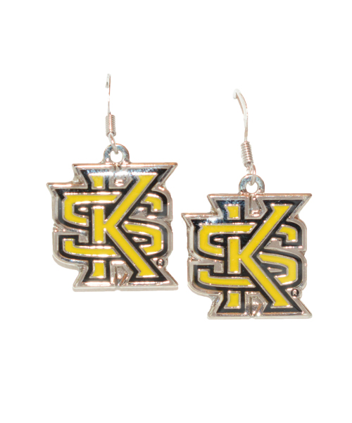 Image For Neil Designs Interlocking KS Dangle Earrings