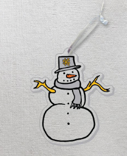 Image For CDI Acrylic Snowman Ornament