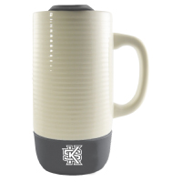 Image For Ceramic Tumbler with Silicone Bottom