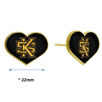 Image For Jardine Heart Interlocking KS Post Earrings