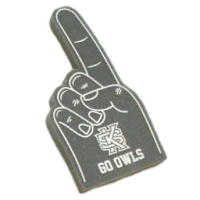 "Image For 12"" Grey Go Owls Foam Hand"