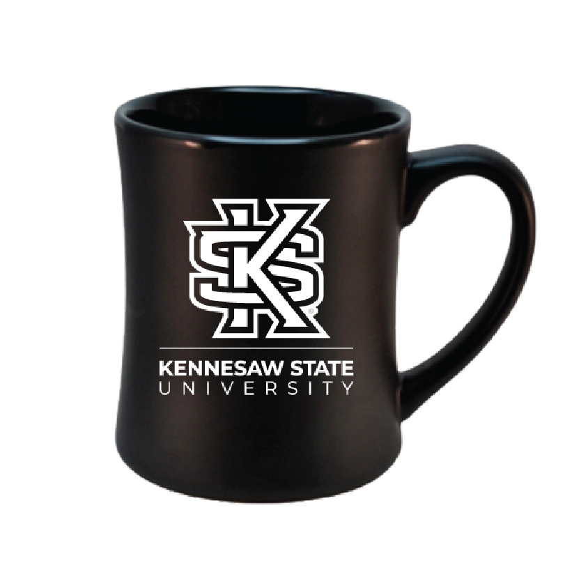 Image For Interlocking KS Black Mug