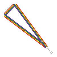 "Cover Image For 3/4"" Rainbow Lanyard"