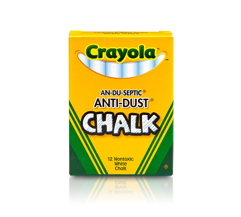 Image For CHALK STAPLES CRAYOLA WHT