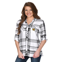 Image For UGApperal Women's Plaid Satin Weave