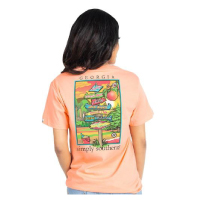 Image For Simply Southern Georgia Peach Tee