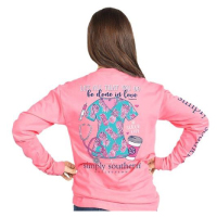Image For Simply Southern Nurse Scrubs Long Sleeve Tee