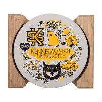 Image For Julia Gash Kennesaw Coasters w/ Holder
