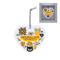 Image For Julia Gash Kennesaw Heart Ornament