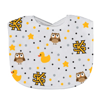 Image For Neil Interlocking KS Owl Baby Bib