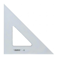 "Image For Alvin 6"" Academic Transparent Triangle 45°/90°"