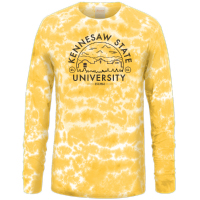 Cover Image For Kennesaw State Long Sleeve Tie Dye Crinkle Tee
