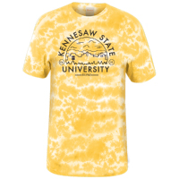 Image For Kennesaw State Short Sleeve Tie Dye Crinkle Tee