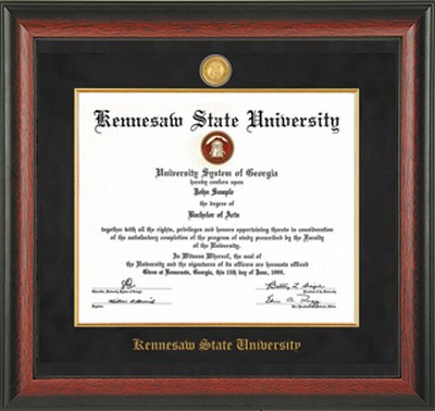 Image For Professional Diploma Frame ROSEWOOD W/