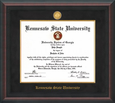 Image For Professional Diploma Frame Mahogany Braid