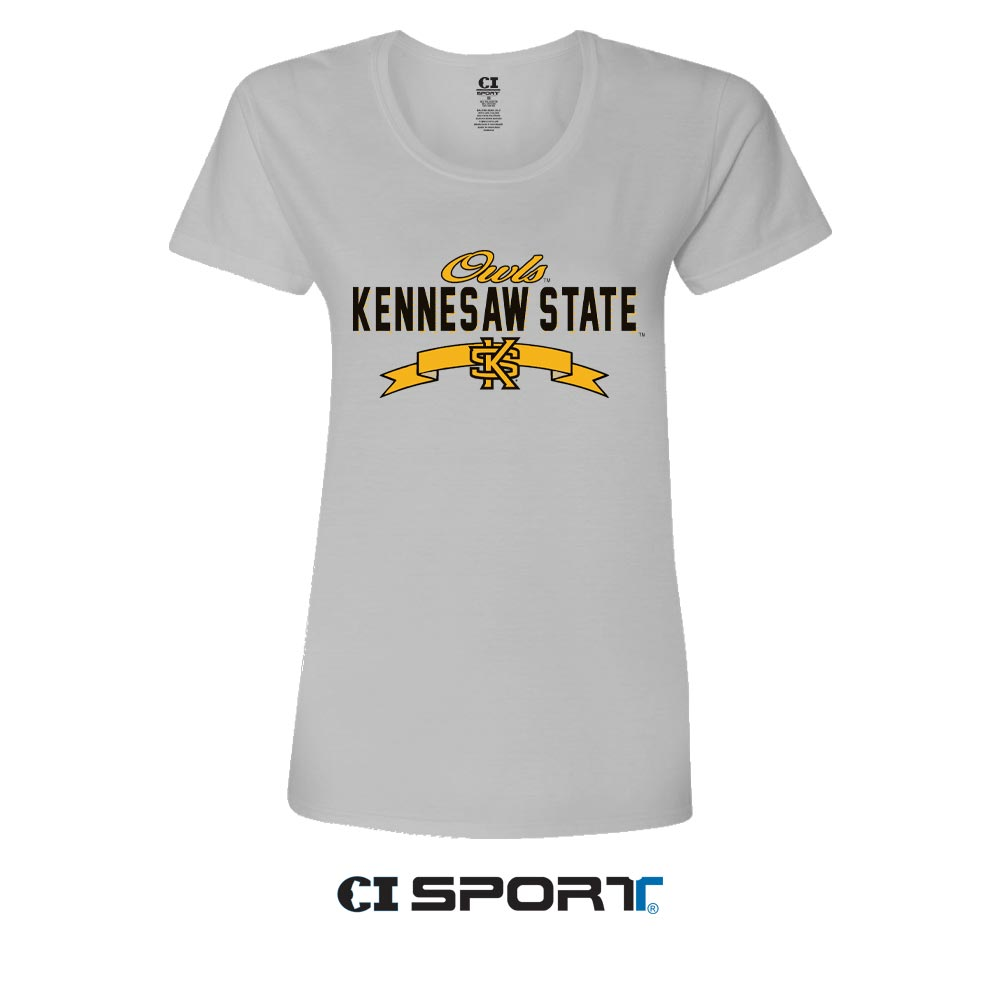 Image For CI Sport Kennesaw State Ladies V-Neck Tee