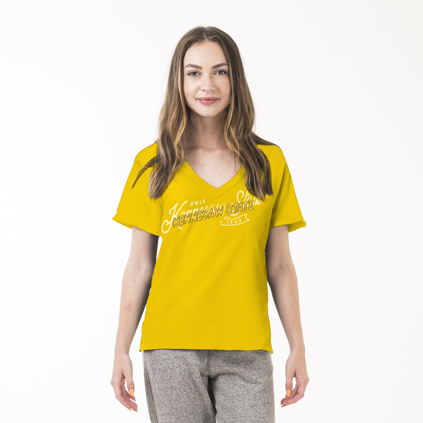 Image For American Collegiate V-Neck Kennesaw State Tee