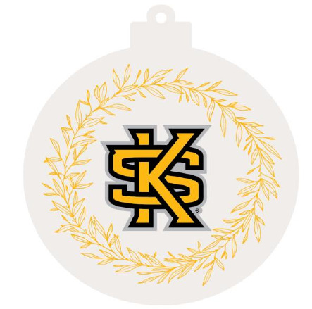 Image For Round Interlocking KS with Gold Leaf Ornament
